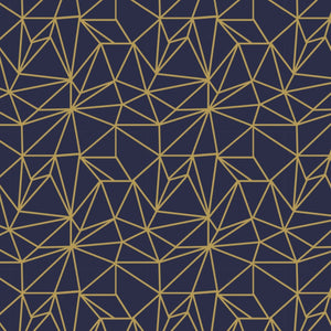 Written In The Stars Navy Metallic ½ yd-Fabric-Spool of Thread