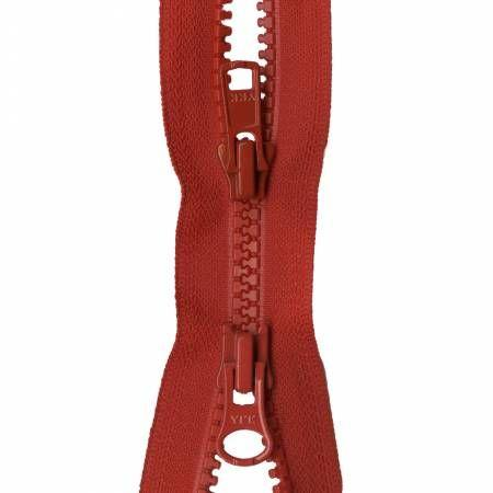 Zipper Vislon 2-way Separating 30-inch Atom Red-Notion-Spool of Thread