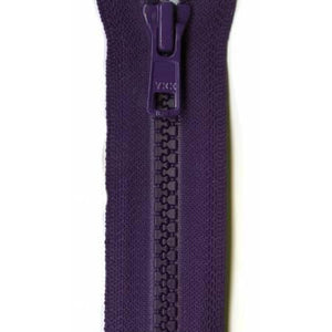 Zipper Vislon Closed Bottom 9-inch Purple-Notion-Spool of Thread