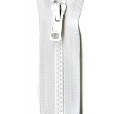 Zipper Vislon Closed Bottom 9-inch White-Notion-Spool of Thread