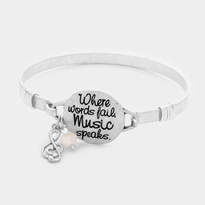 Where Words Fail Hook Bracelet
