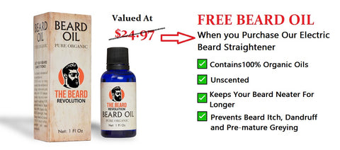 The Beard Revolution, Free Beard Oil with Any Beard Straightener Purchase