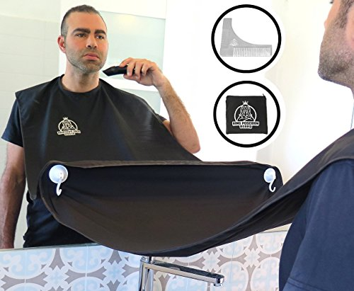The Beard Revolution®️ | Beard Shaving Bib Apron | BONUS Stainless Steel Beard Shaping Tool Comb