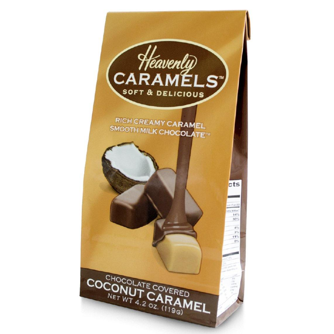 Chocolate Covered Coconut Caramel - Heavenly Caramels