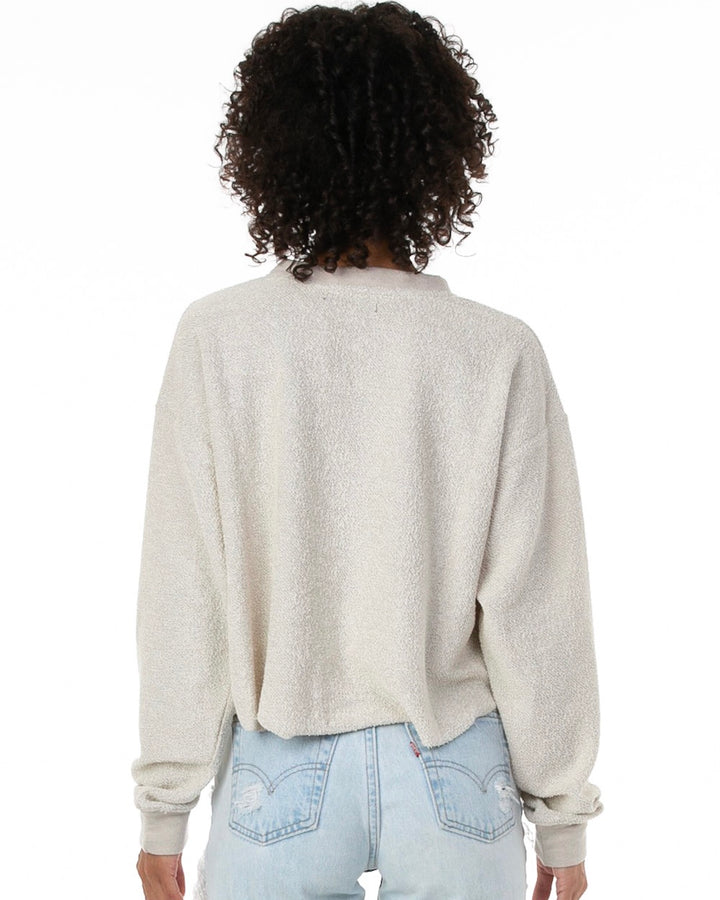 Cropped Sweater in Taupe Heather