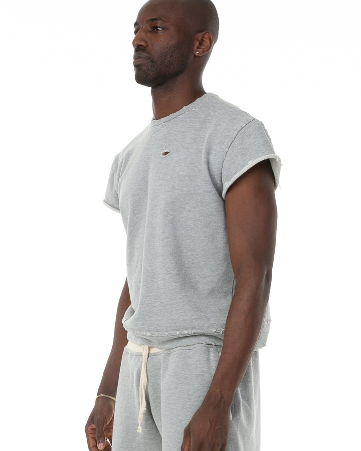Terry Cutoff in Heather Grey