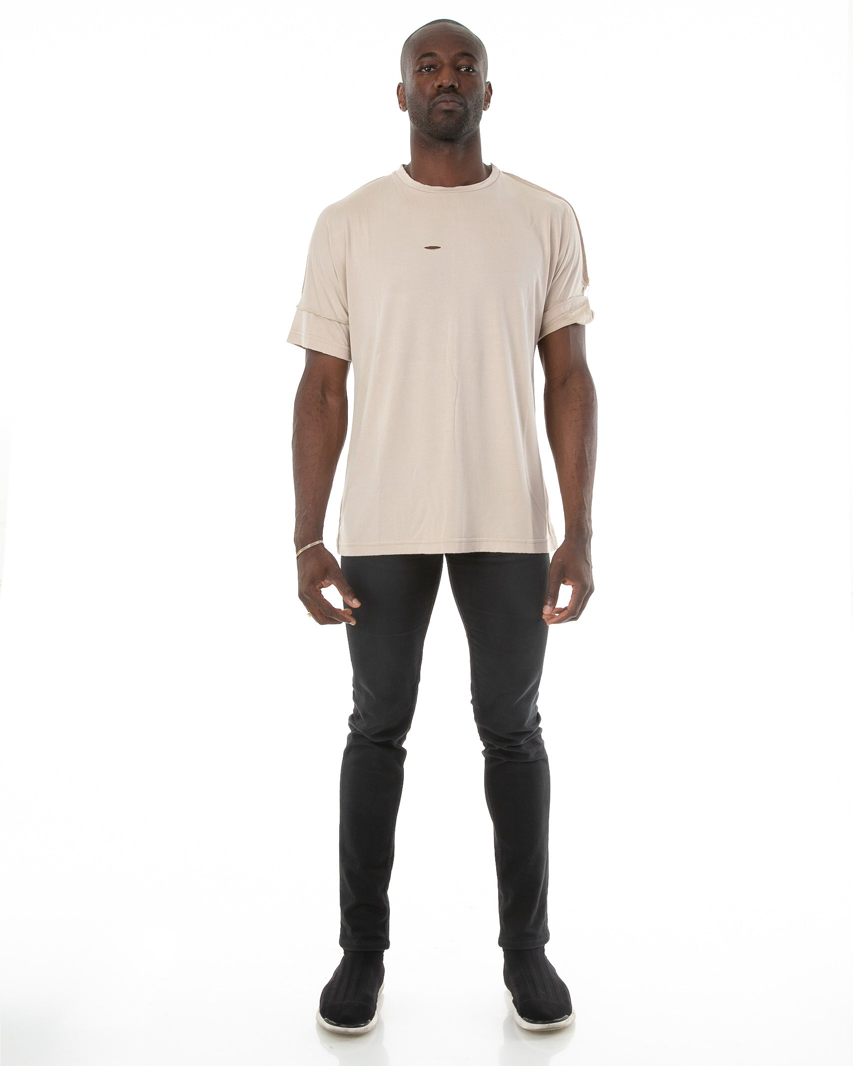 Run Tee in Natural