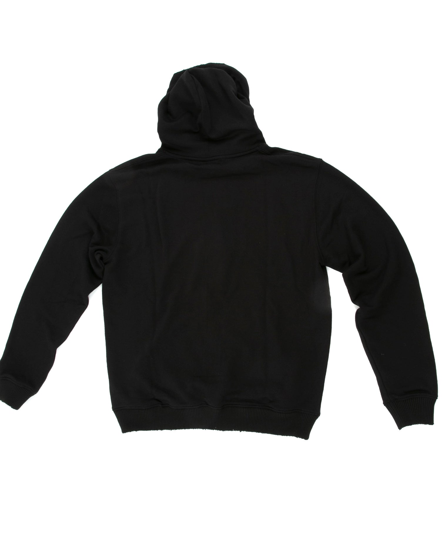 Back of Weighted Hoodie in Black