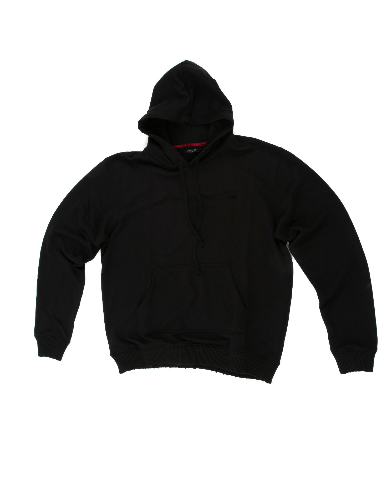 Front of Weighted Hoodie in Black