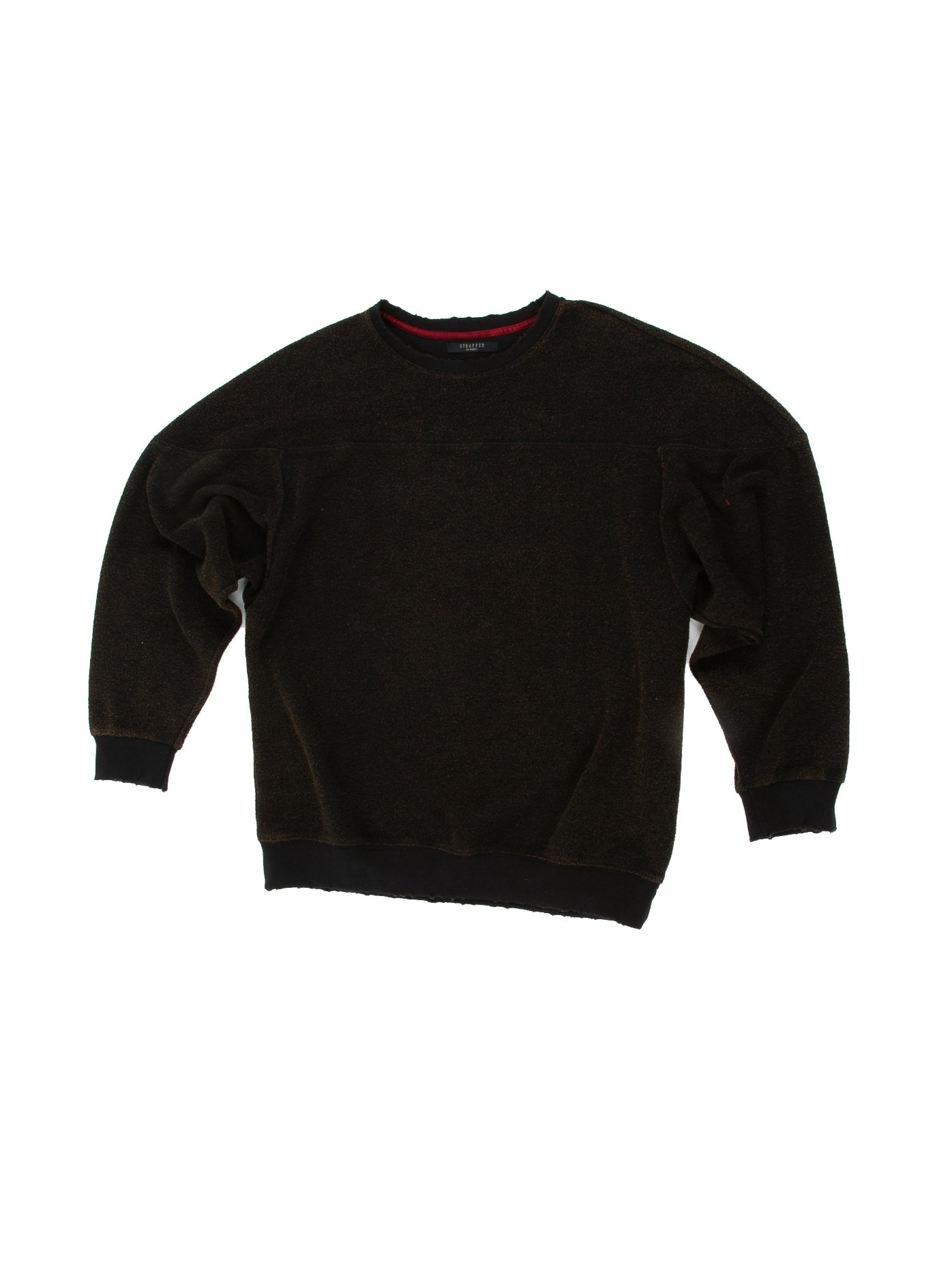 Front of Heavy Crew Sweat in Black