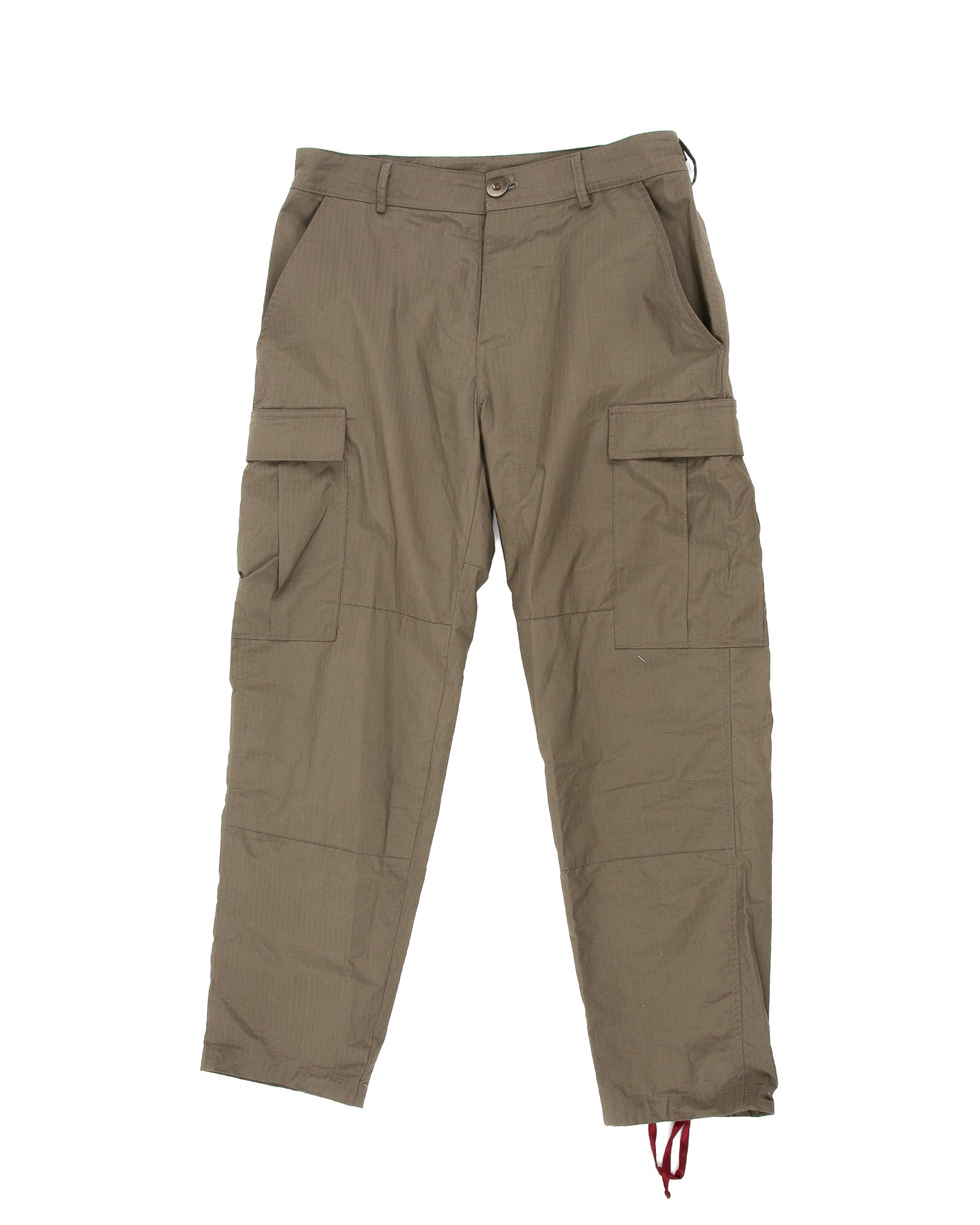 Front of Infantry Pant in Army Green