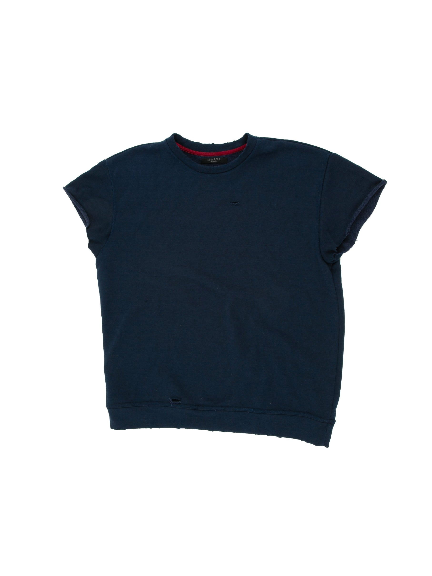 Front of Terry Cutoff in Navy