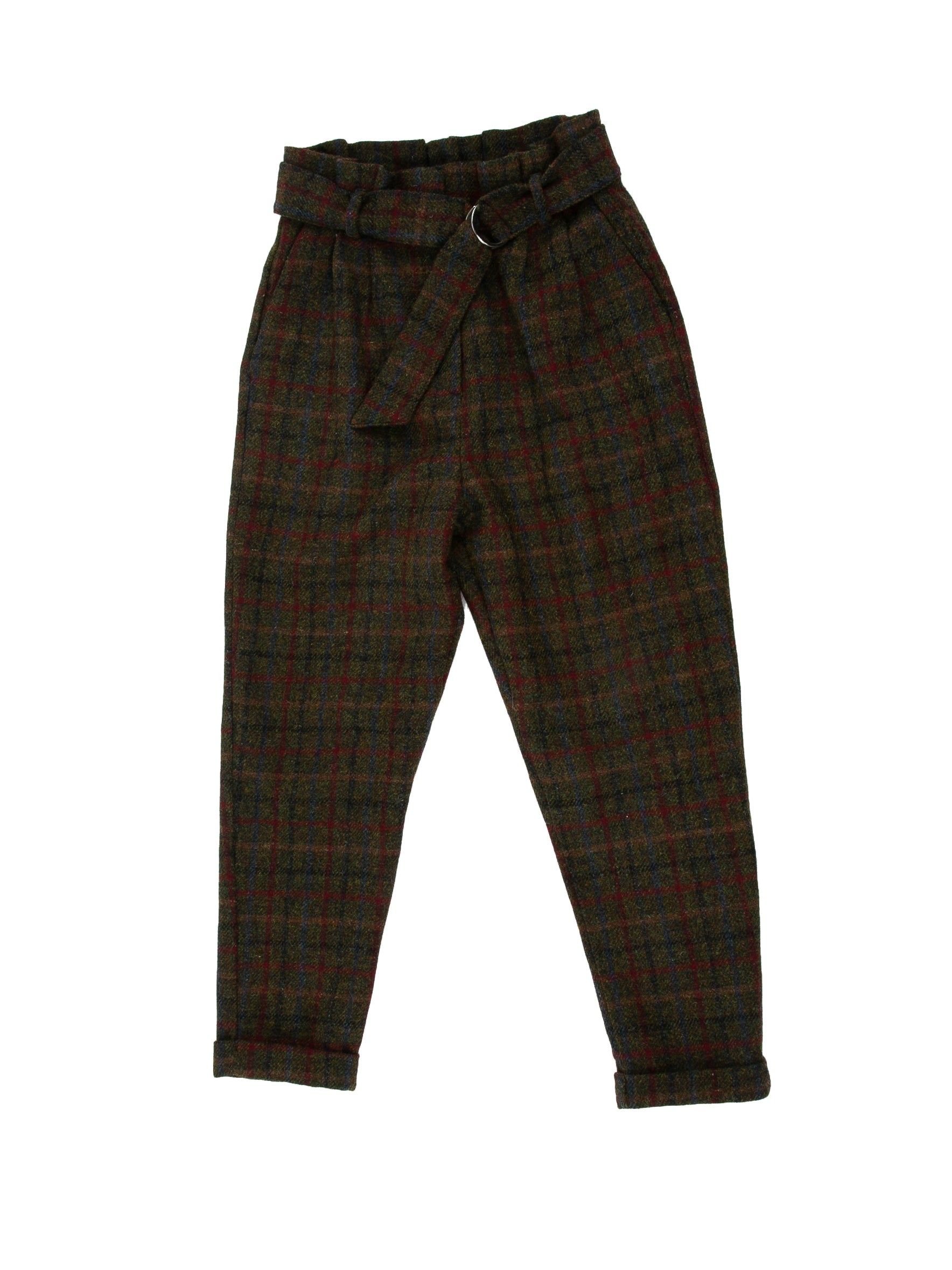 Front of Cinch Pant in Forest Plaid