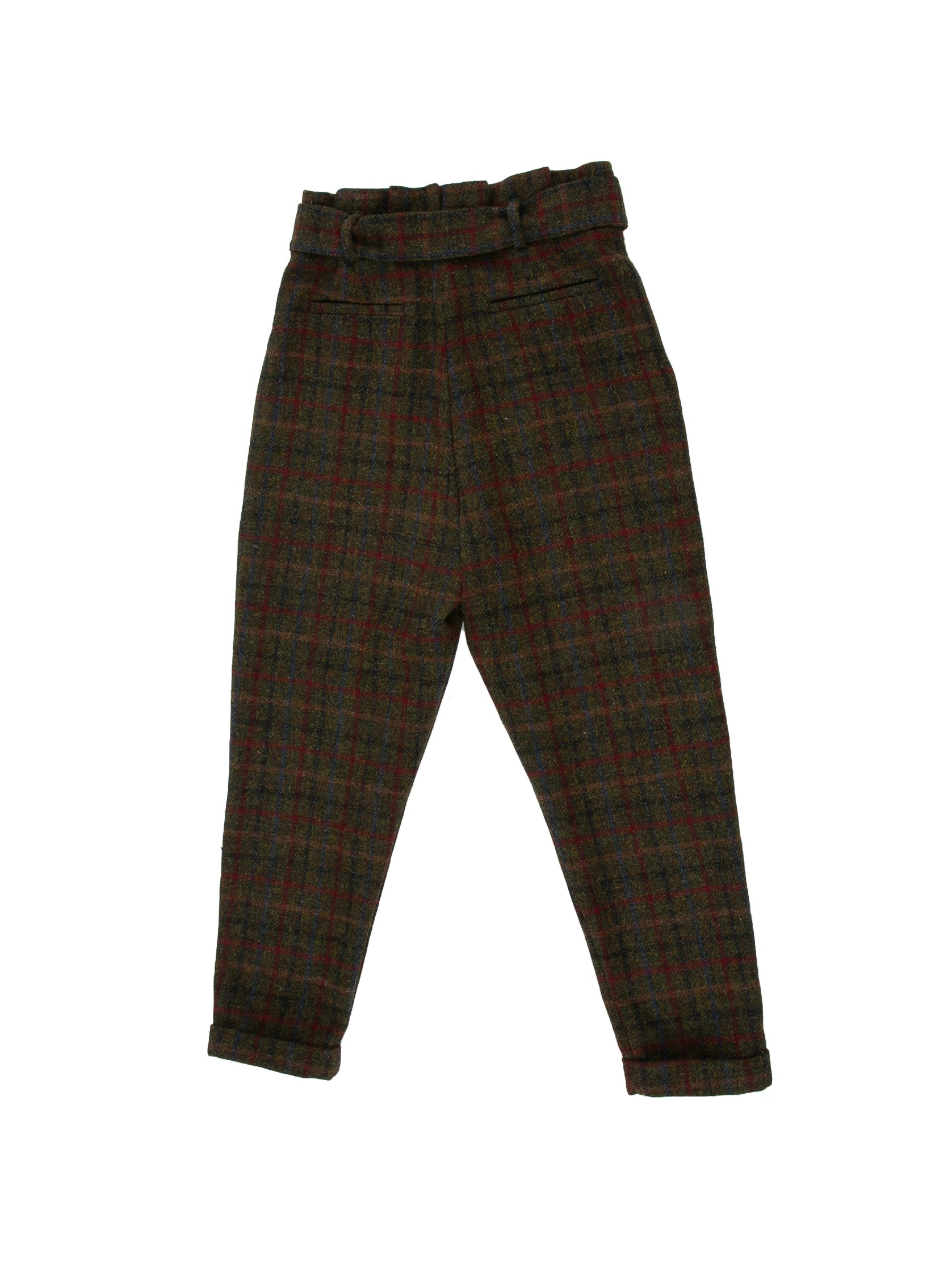 Backside of Cinch Pant in Forest Plaid