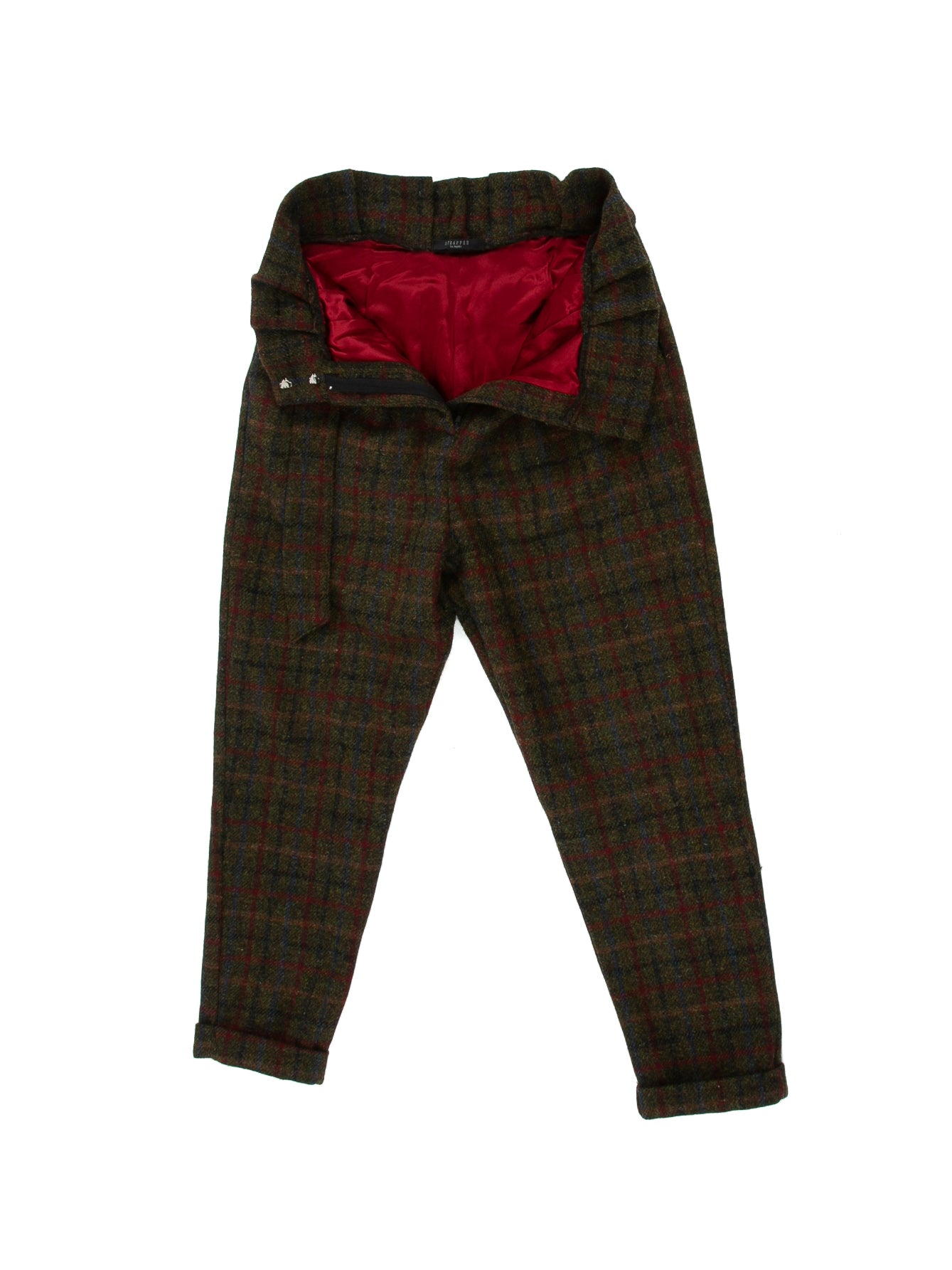 Cinch Pant in Forest Plaid