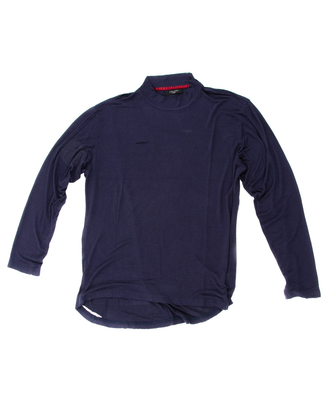 Front of Merchant Long Sleeve in Navy