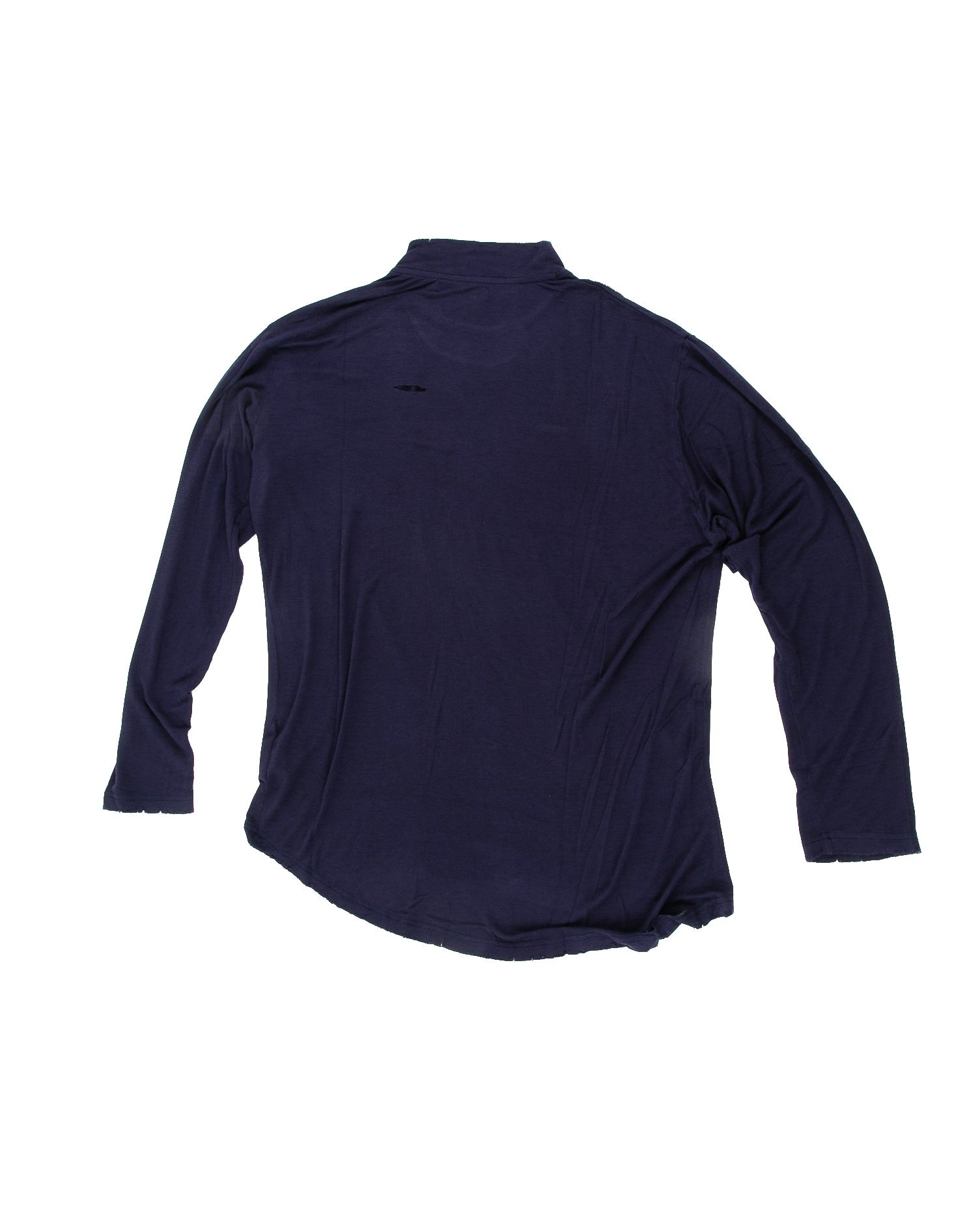 Back of Merchant Long Sleeve in Navy