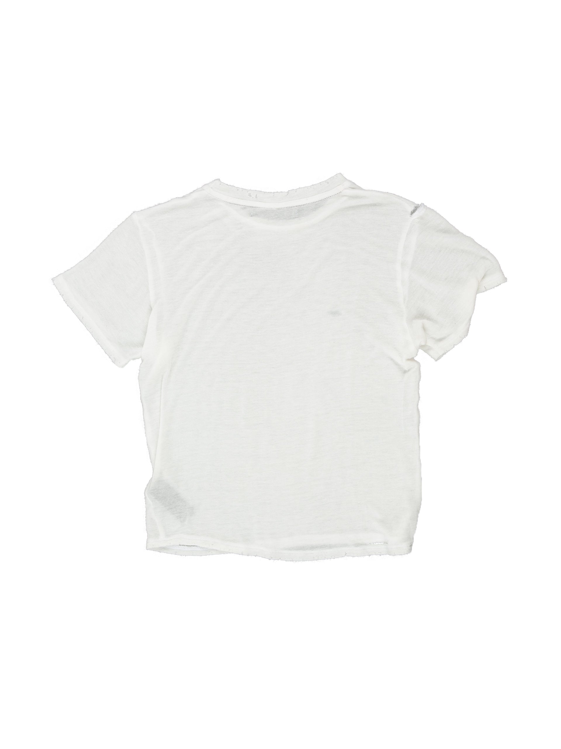 Back of Boxy Tee in Ivory