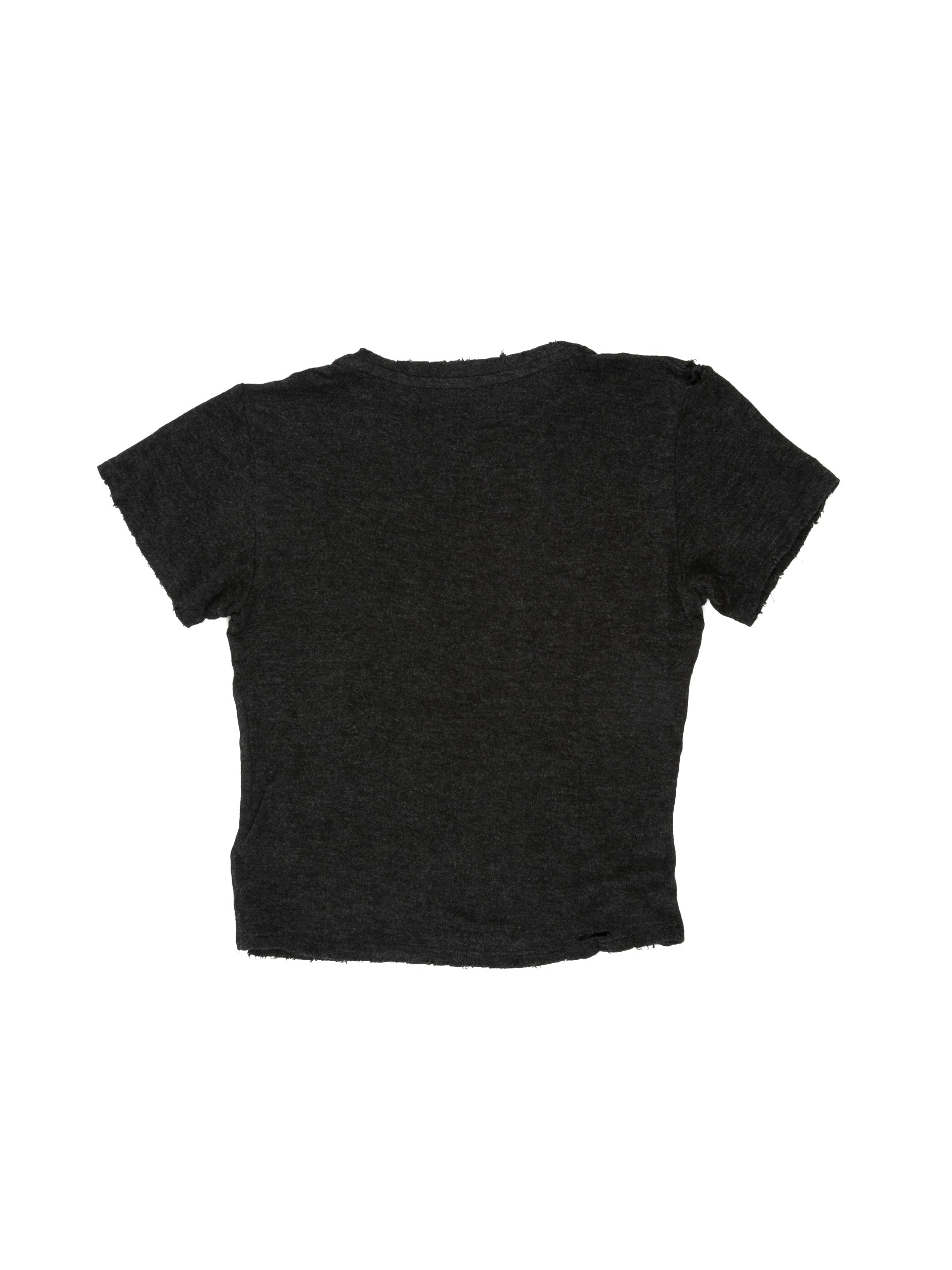 Back of Boxy Tee in Charcoal