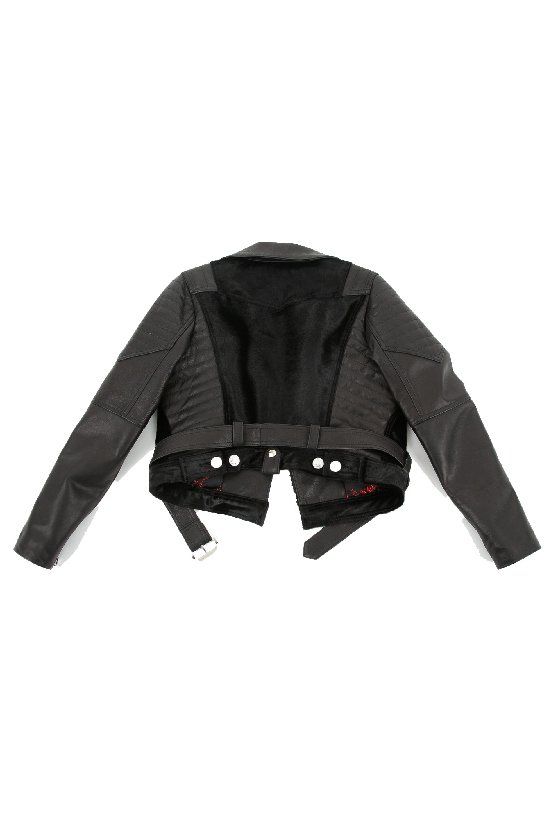Back of The Widowmaker leather jacket