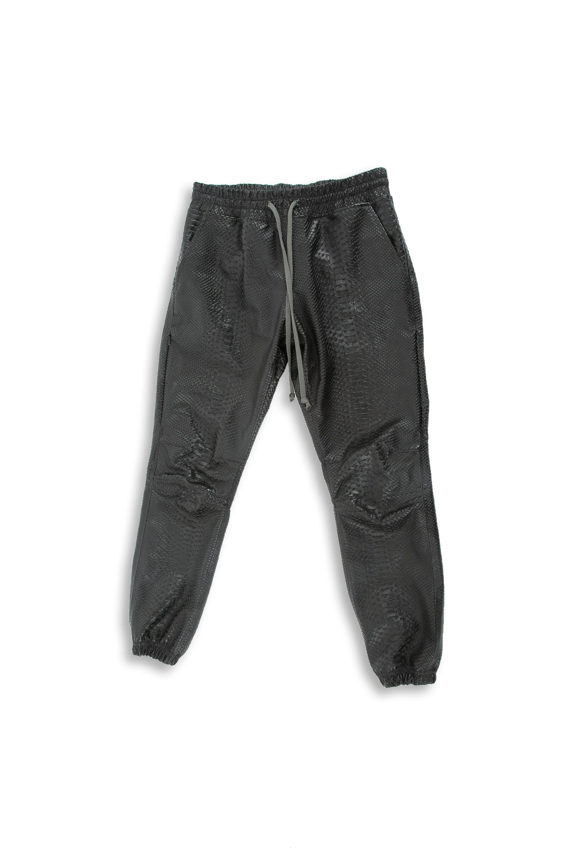 Snakeskin Jogger in Black