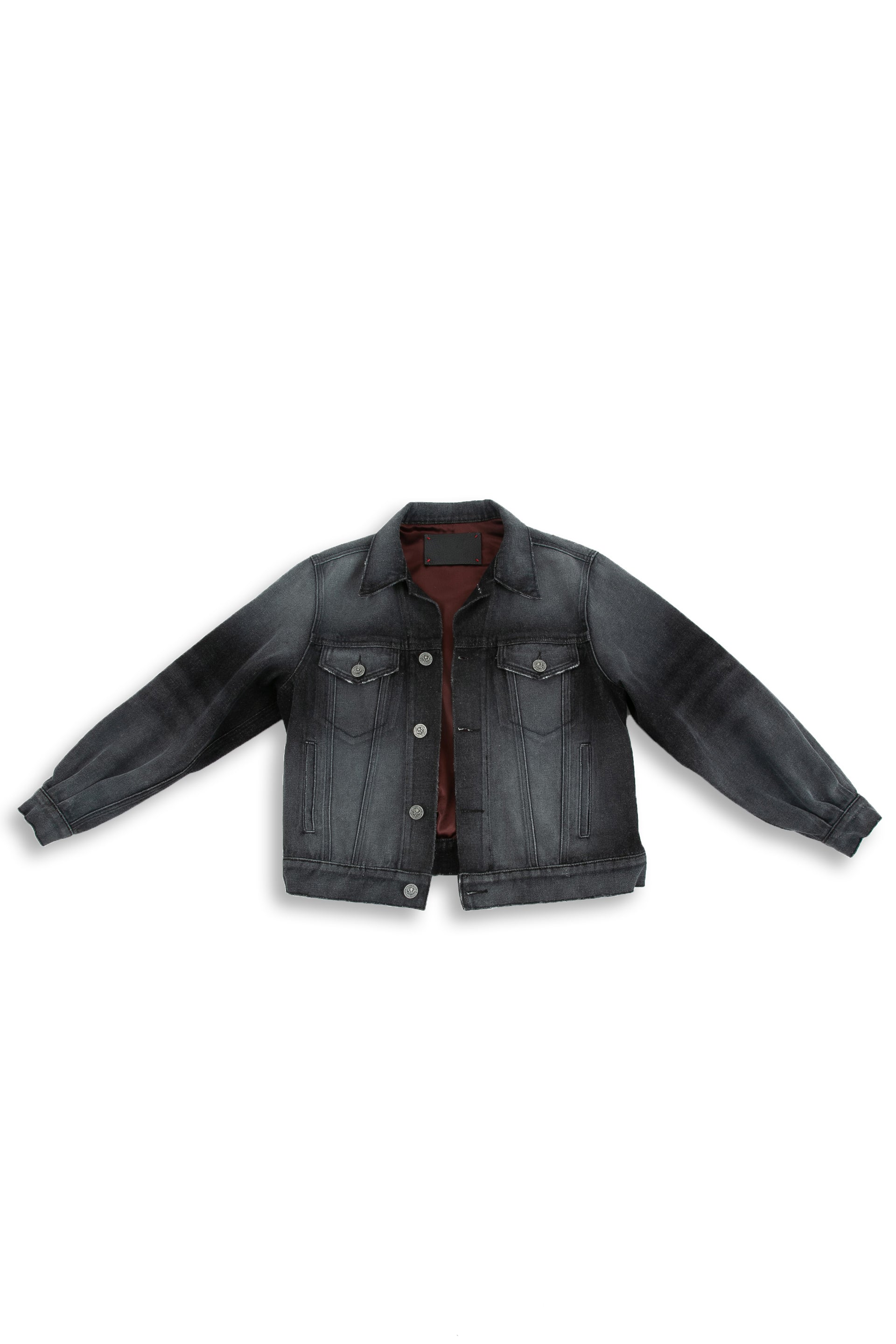 Front of Black Truffle Denim jacket