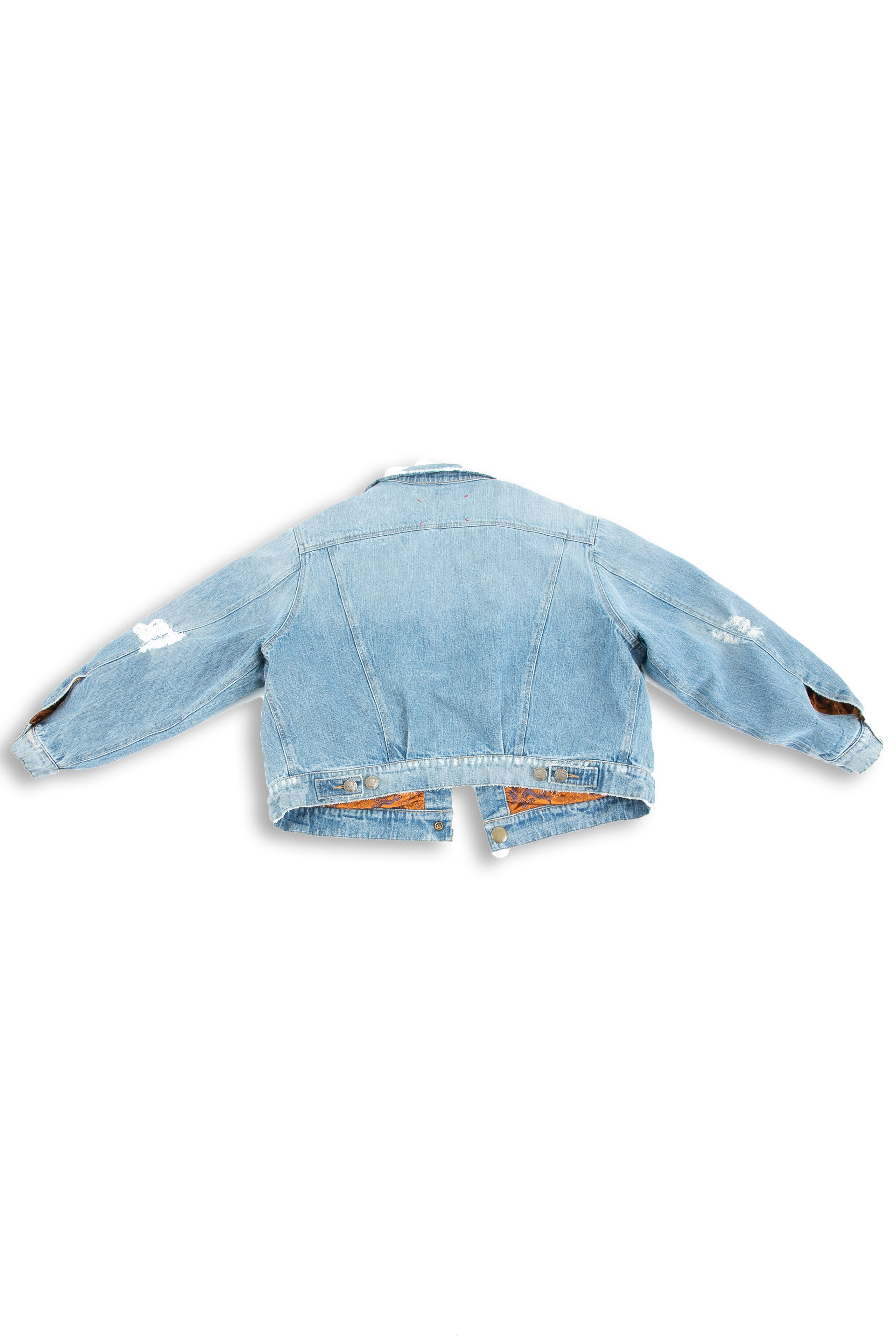 Backside of Dynasty Reversible Denim jacket