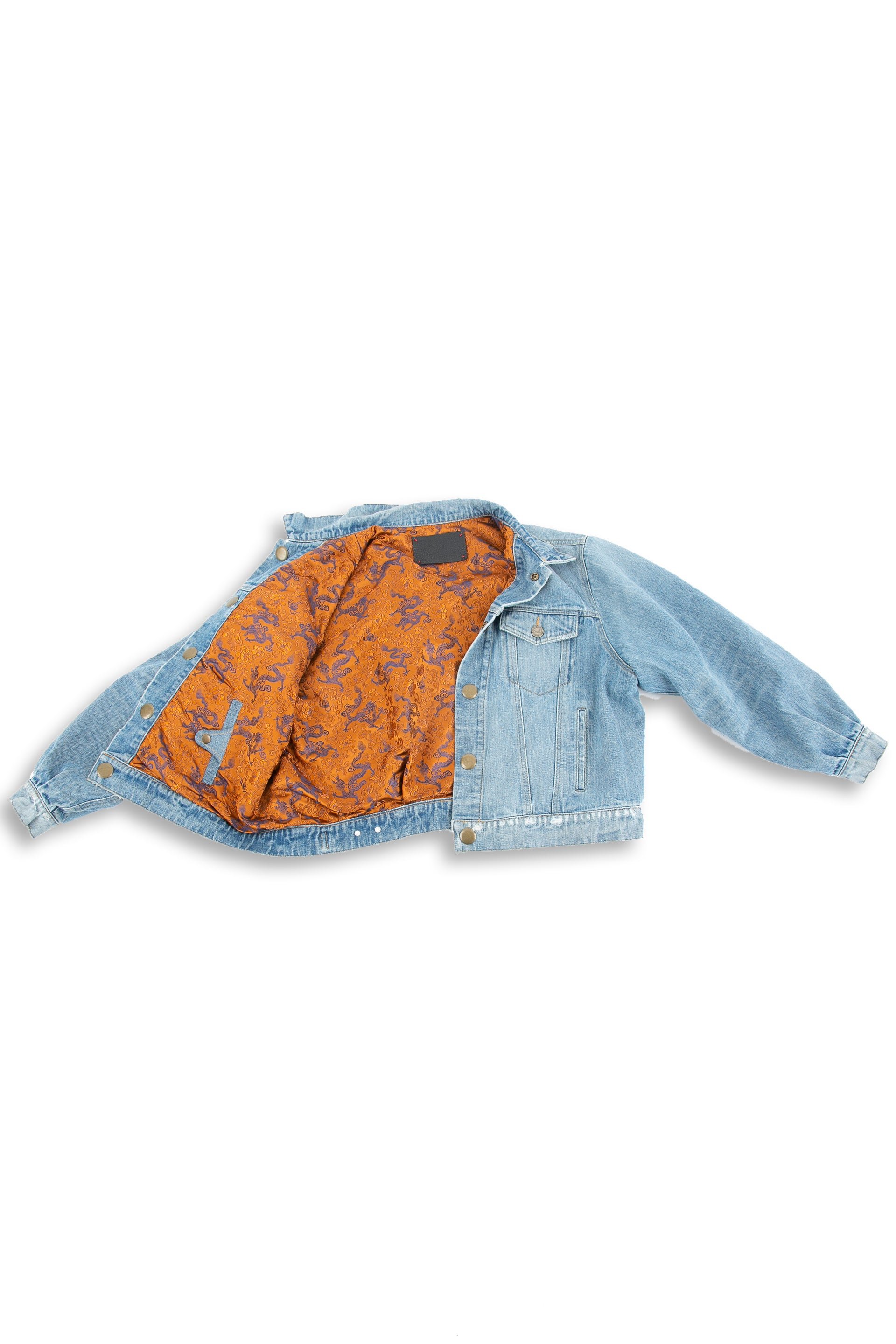 Inside of Dynasty Reversible Denim jacket