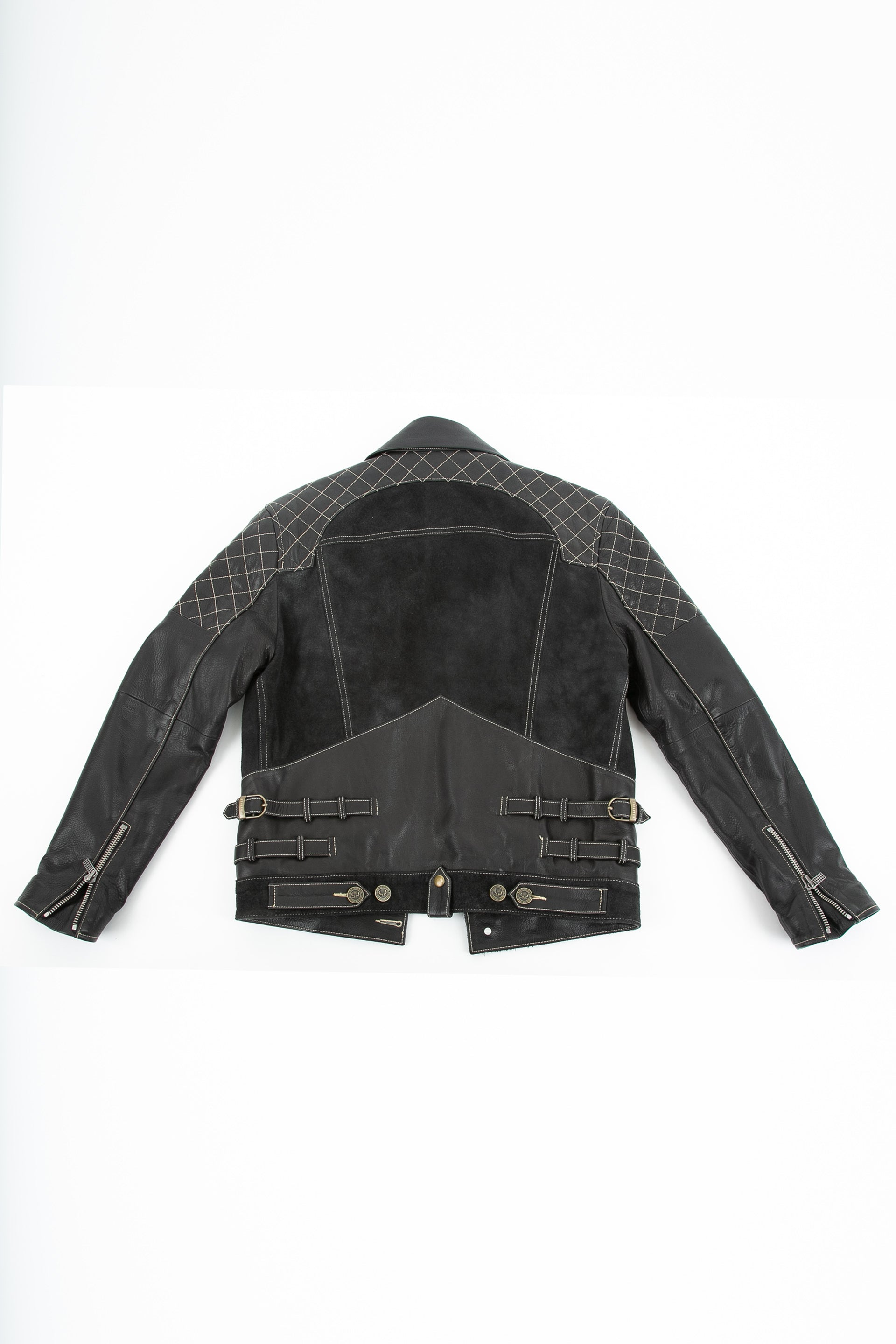 Backside of Emperor leather jacket