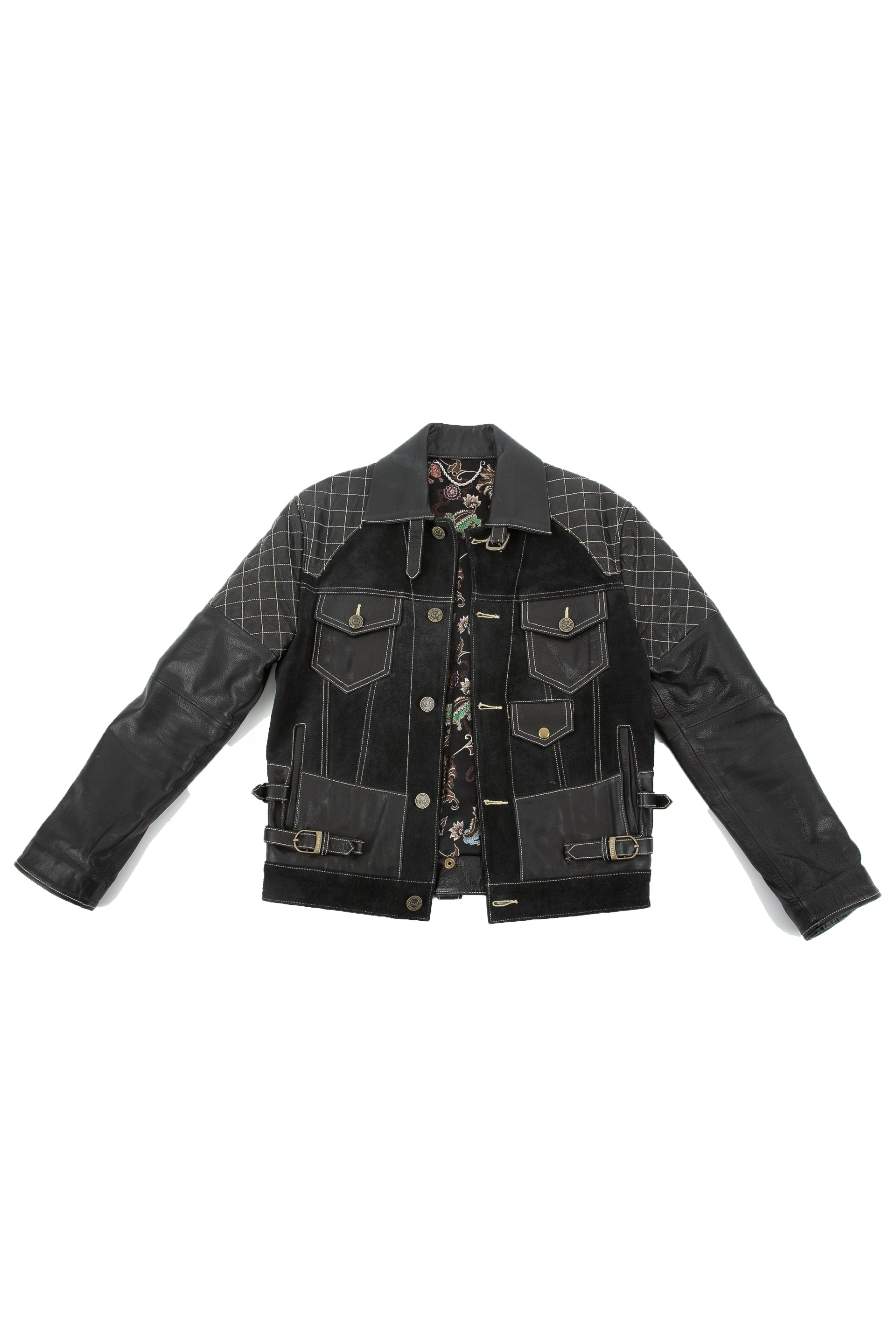 Front of Emperor leather jacket