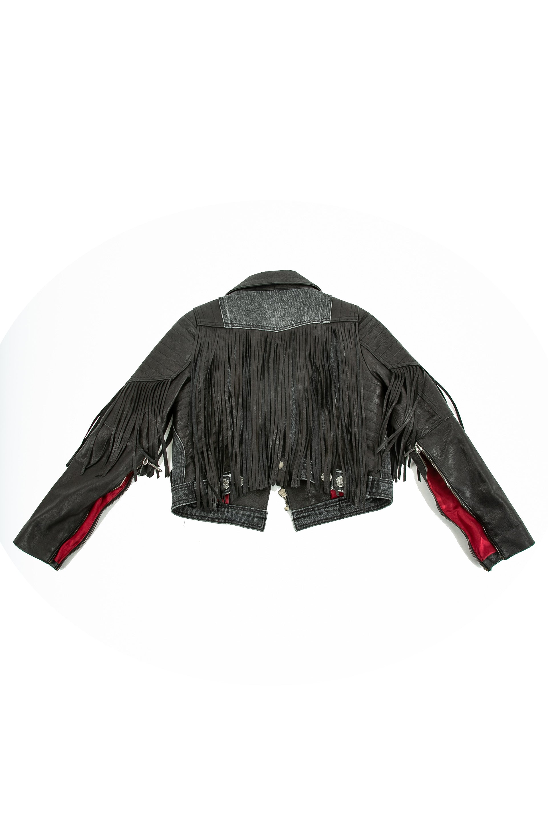 Back of La Matadora leather jacket