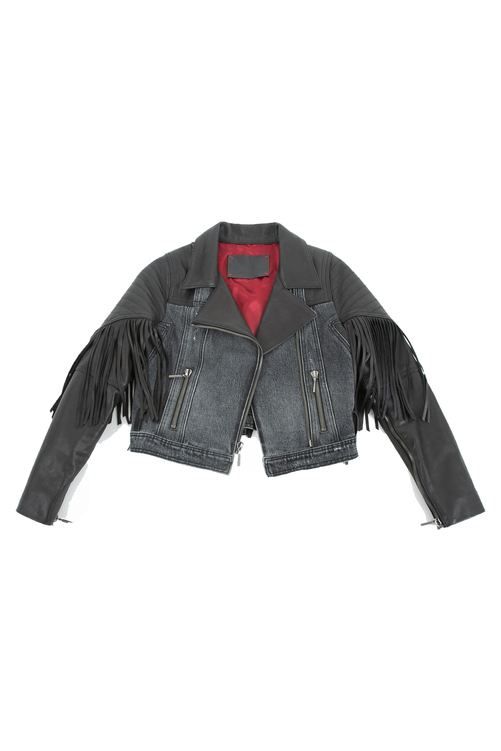 Front of La Matadora leather jacket