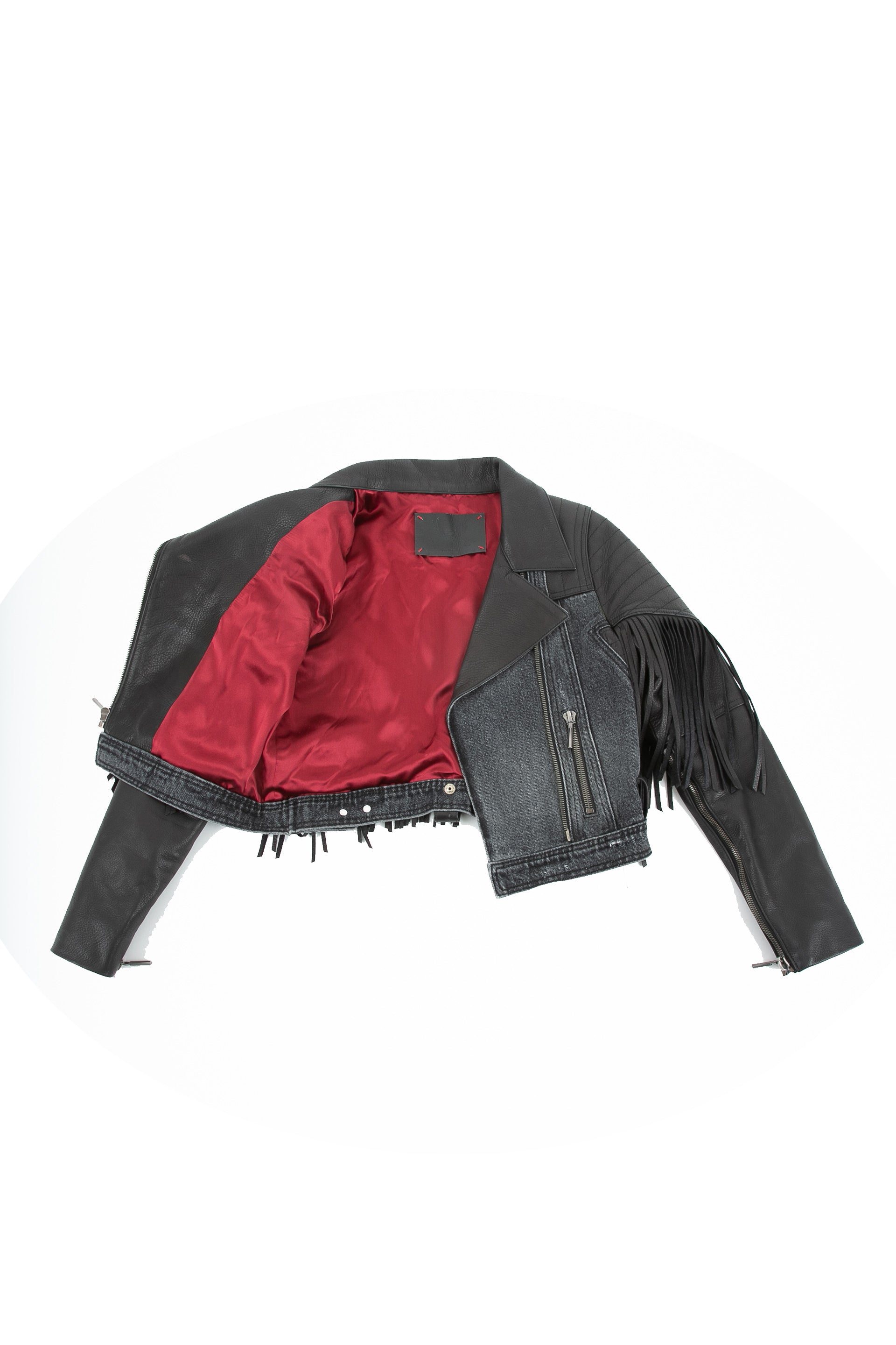 Inside of La Matadora leather jacket
