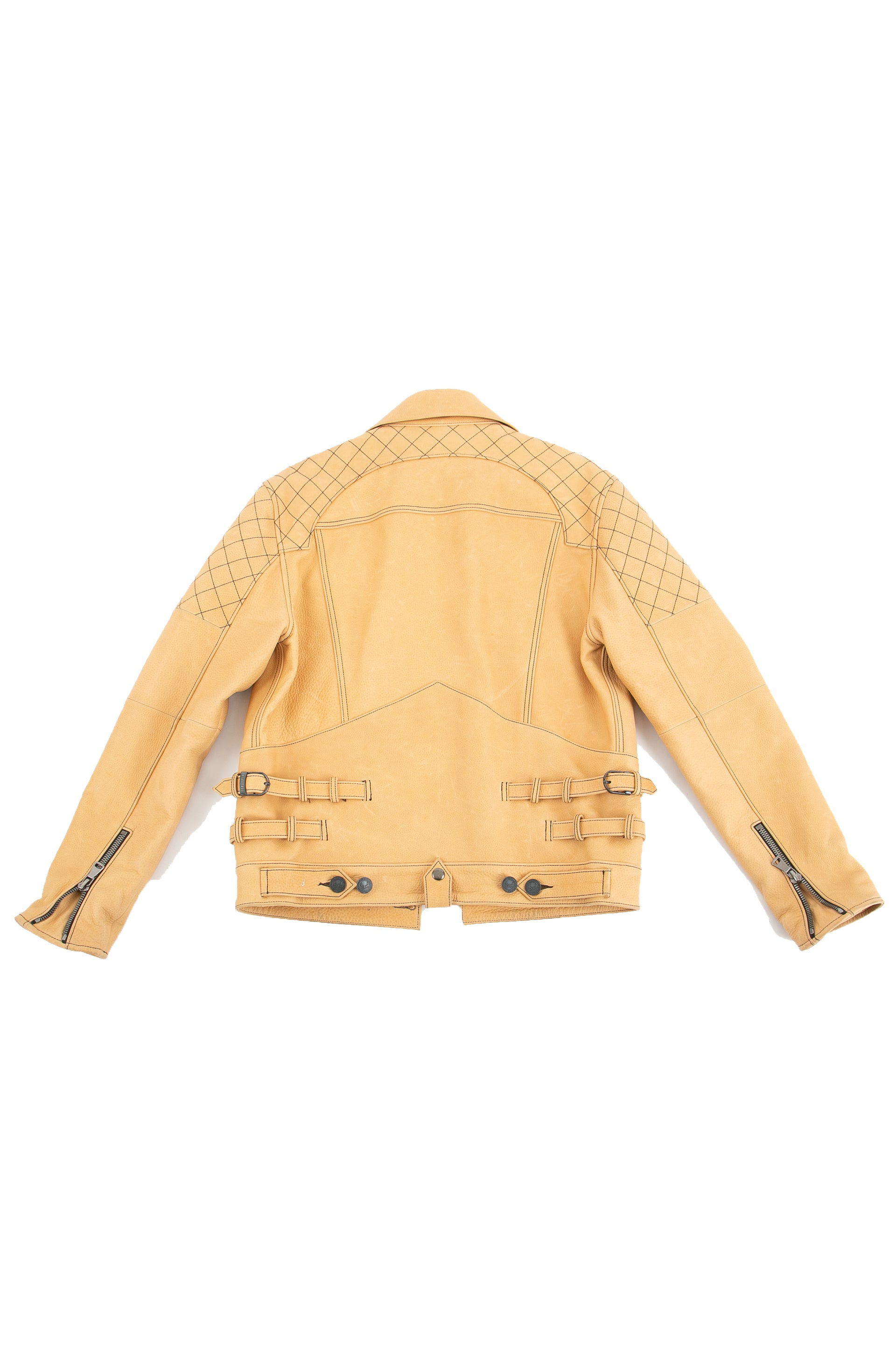 Backside of The Natural leather jacket