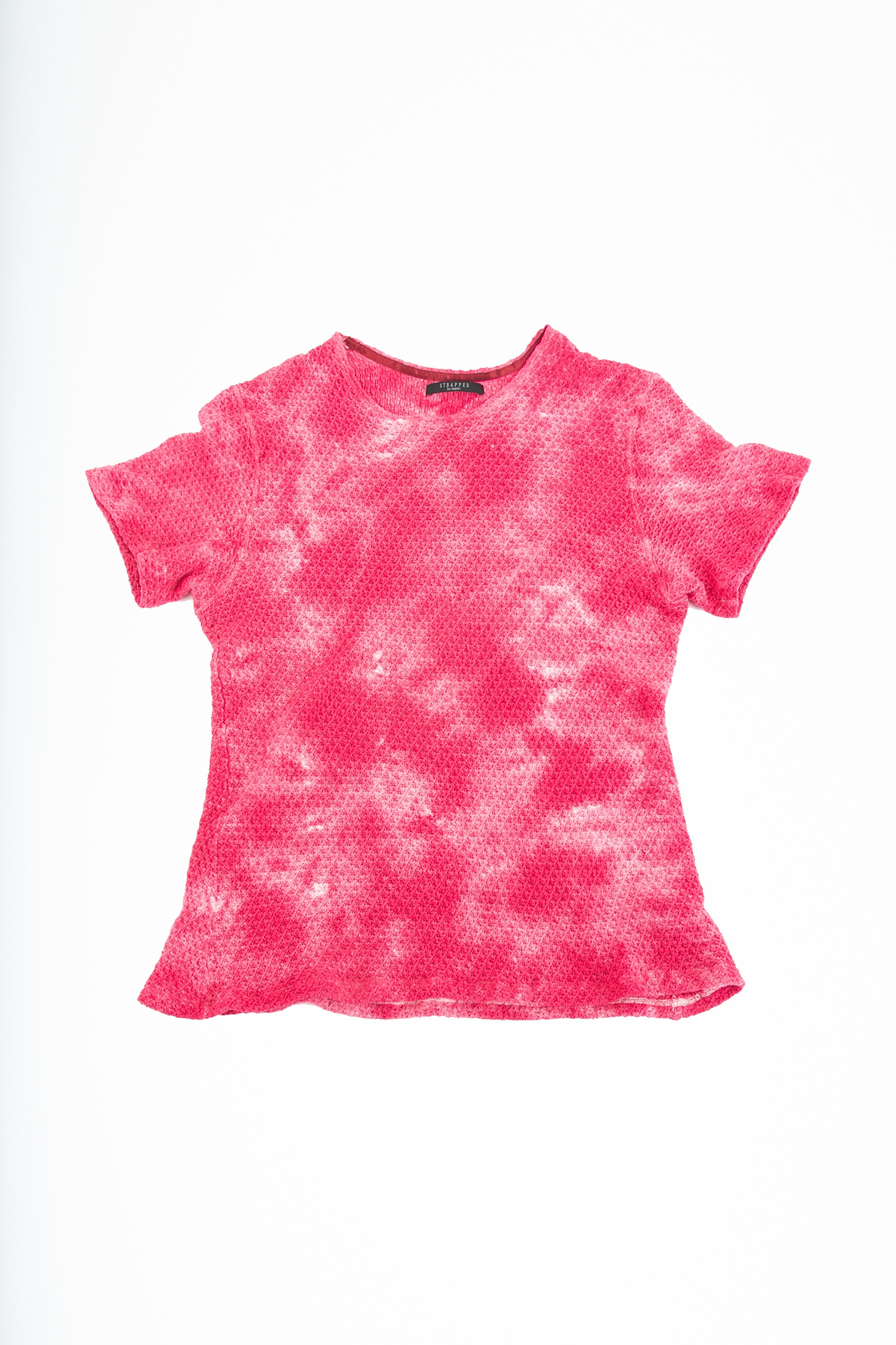 Front of Pointelle Tee in Washed Pink
