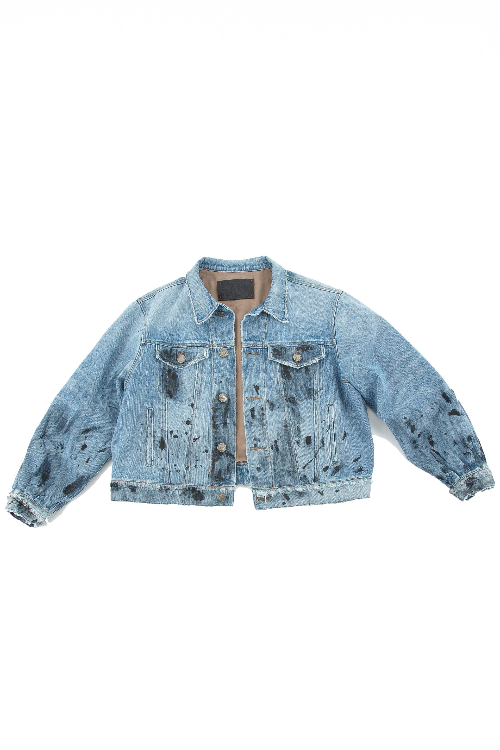 Front of Roofers Denim jacket