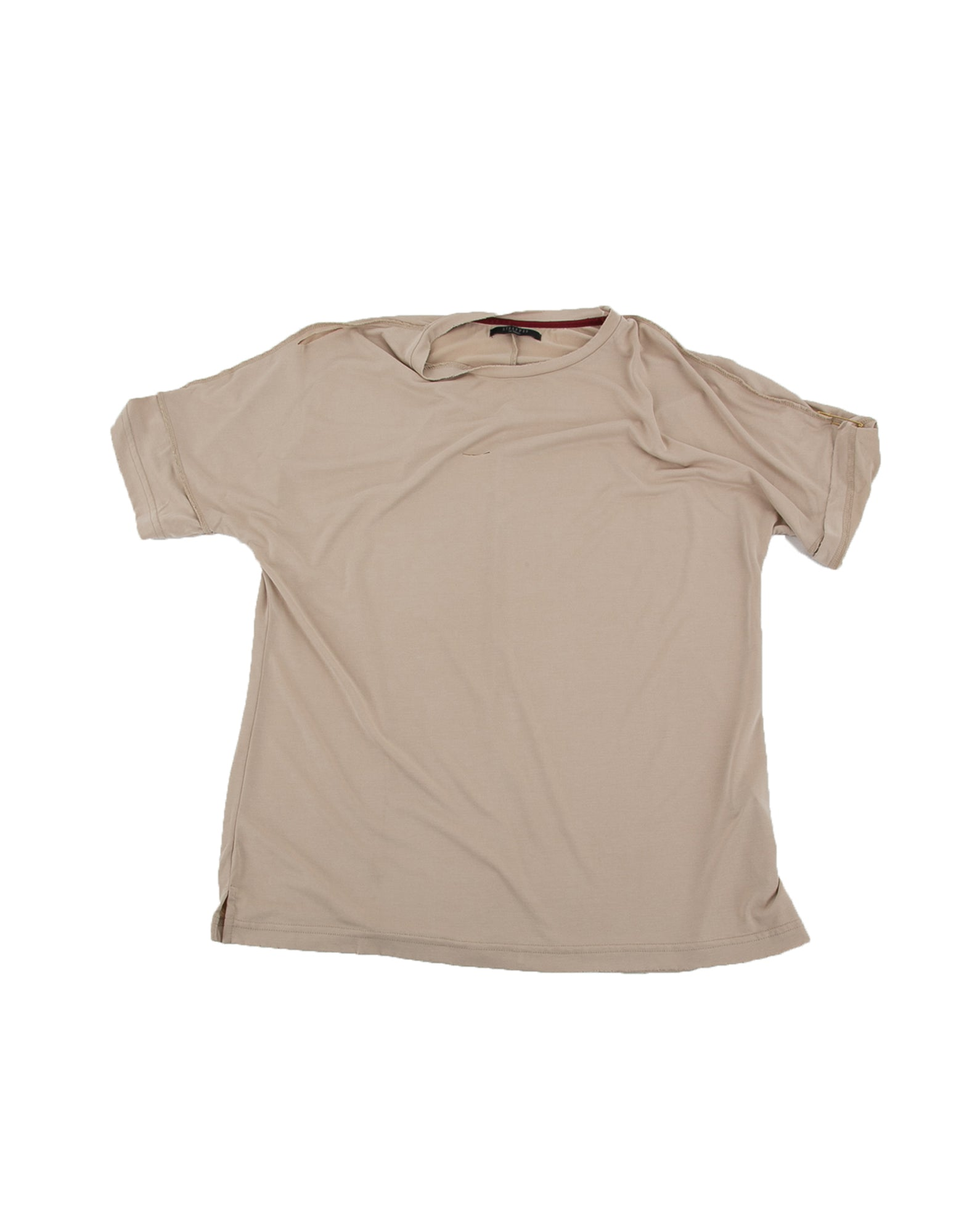Front of Run Tee in Natural