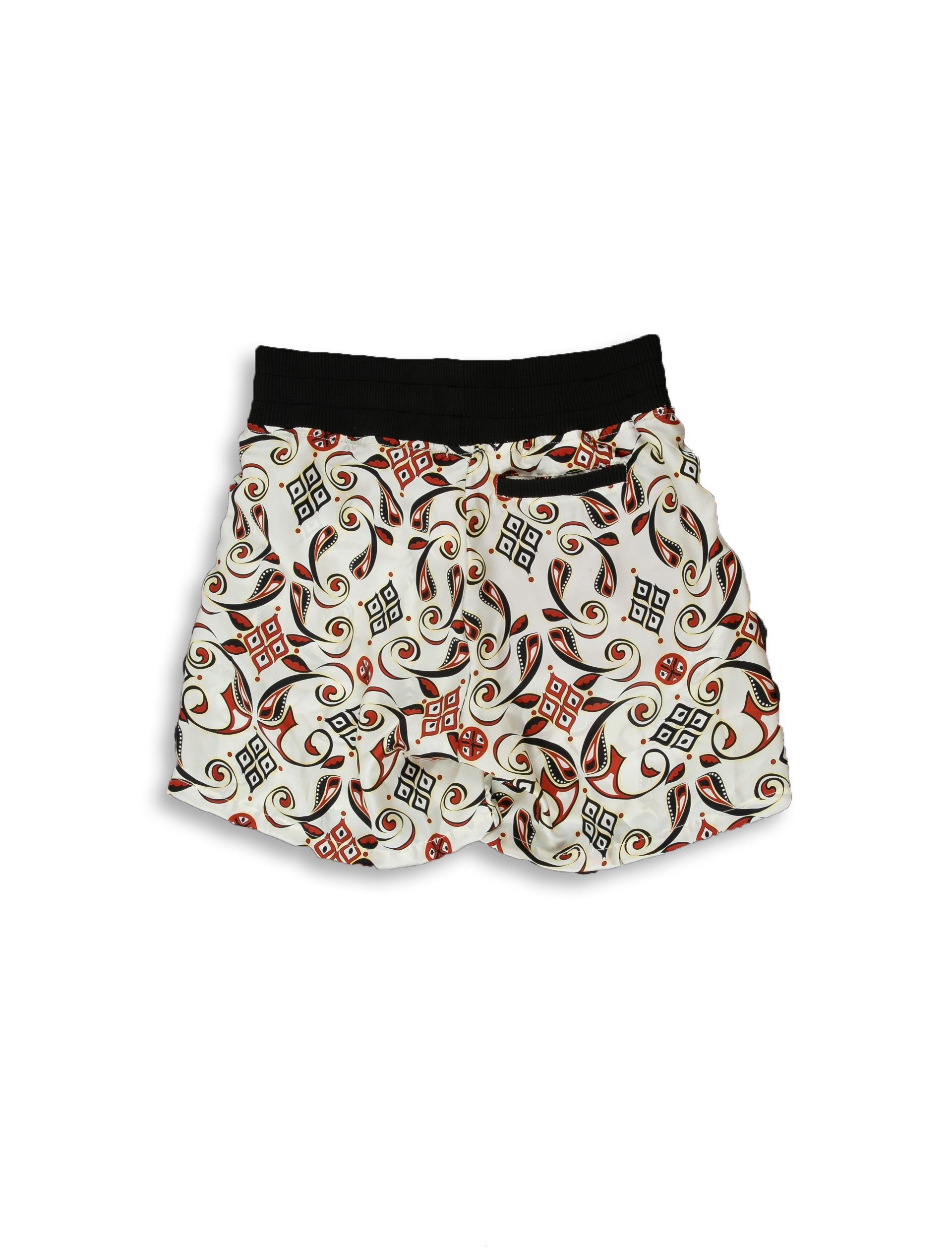 Patterned Silk Short
