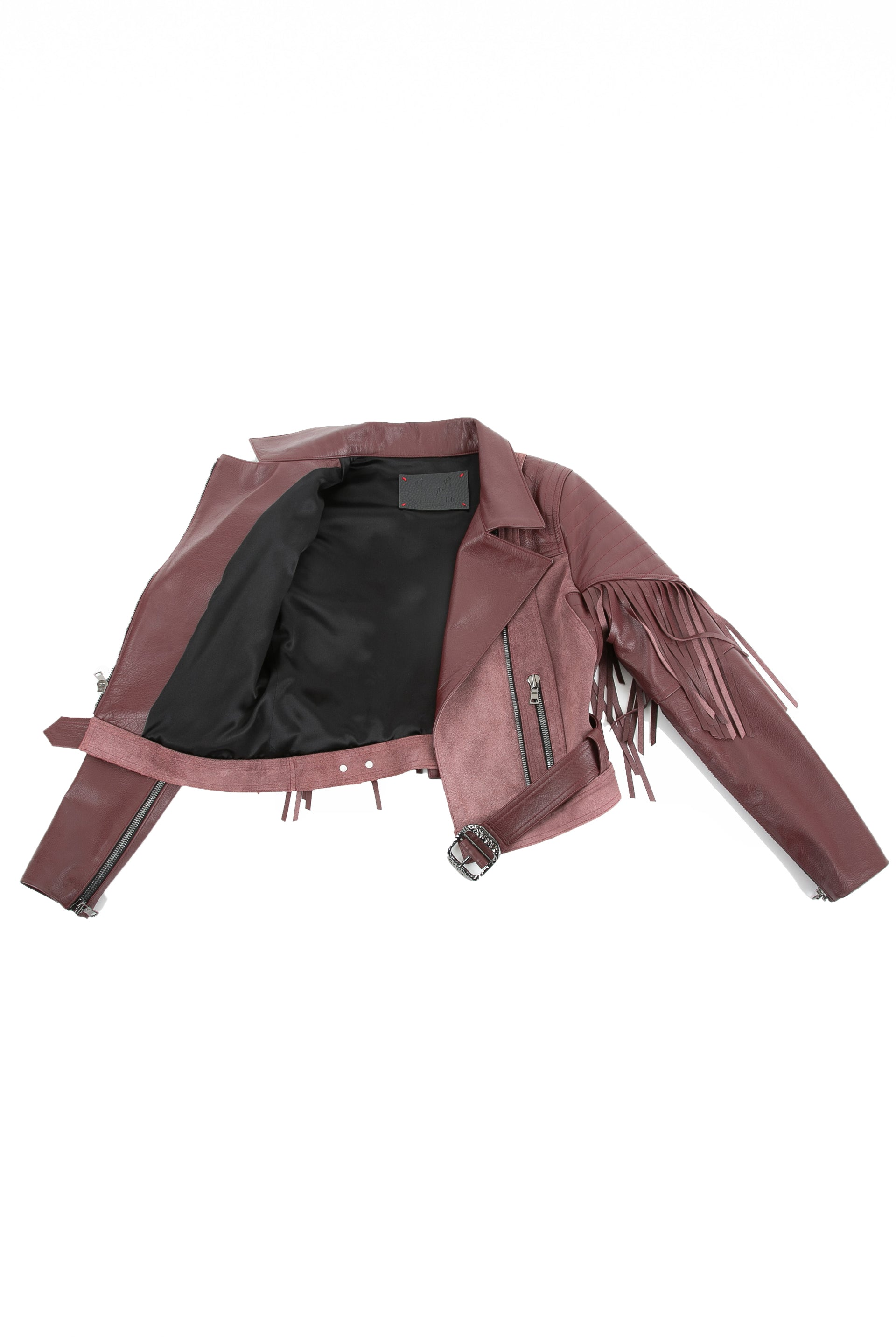 Inside of Sonia leather jacket