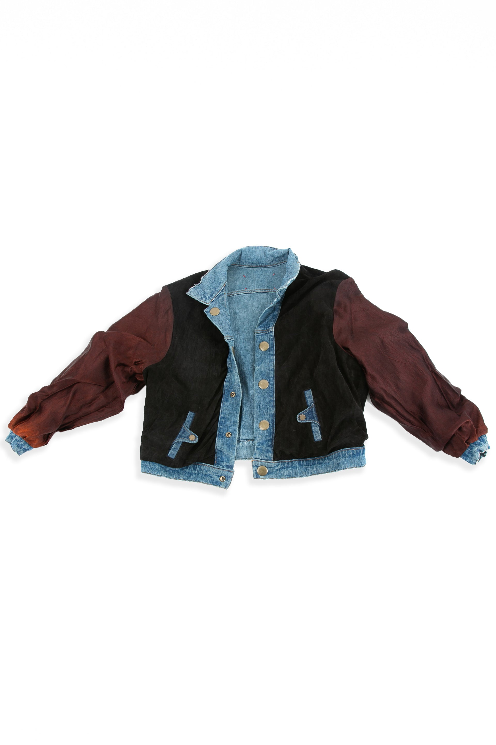 Front of Reversible Suede Bomber jacket