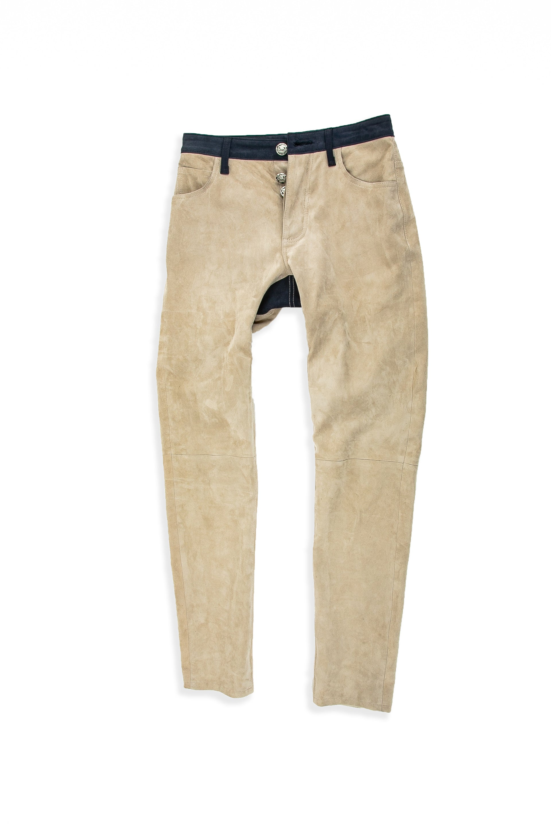 Front of Suede Jean in Beige