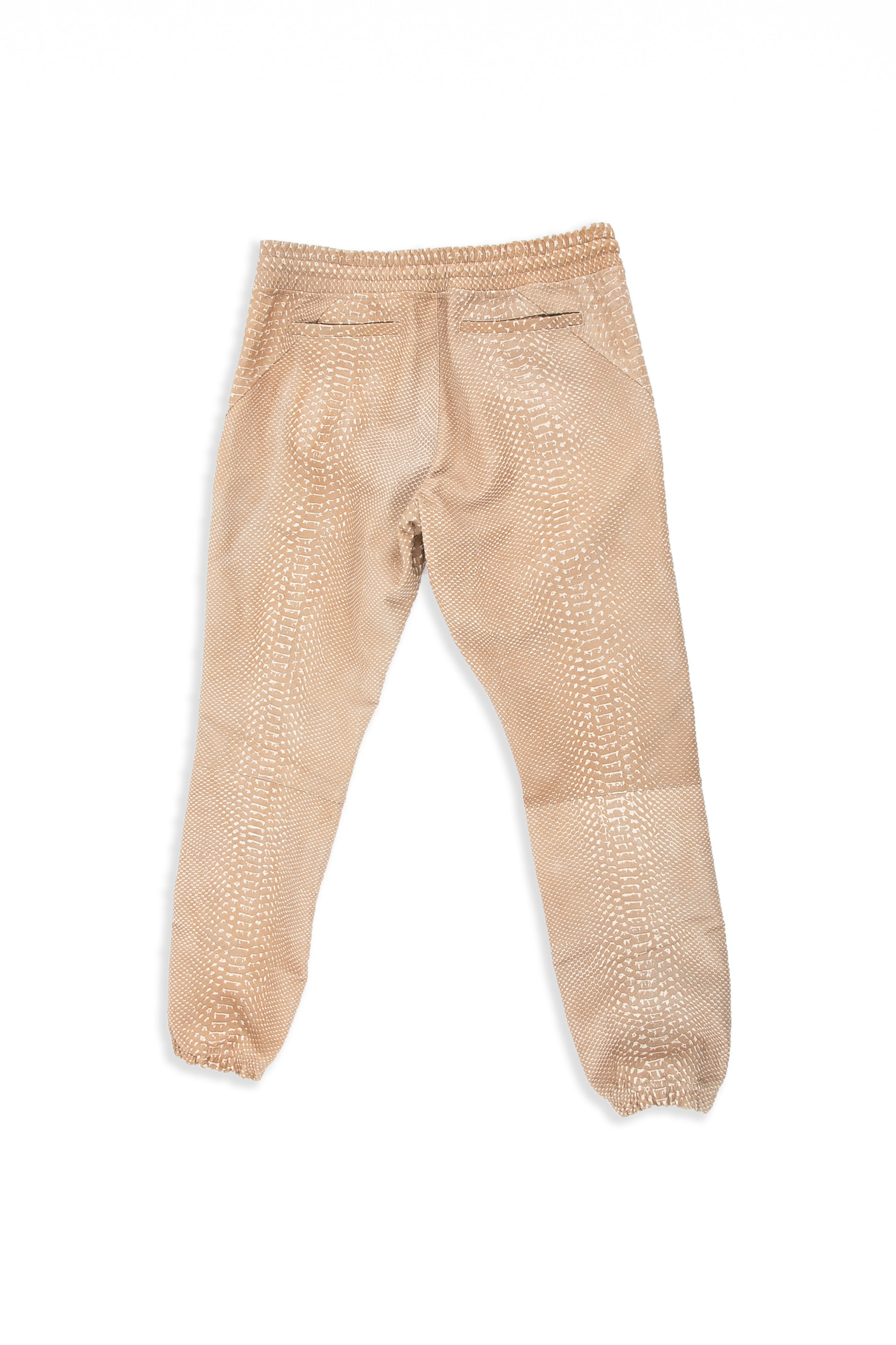 Backside of Snakeskin Jogger in Tan