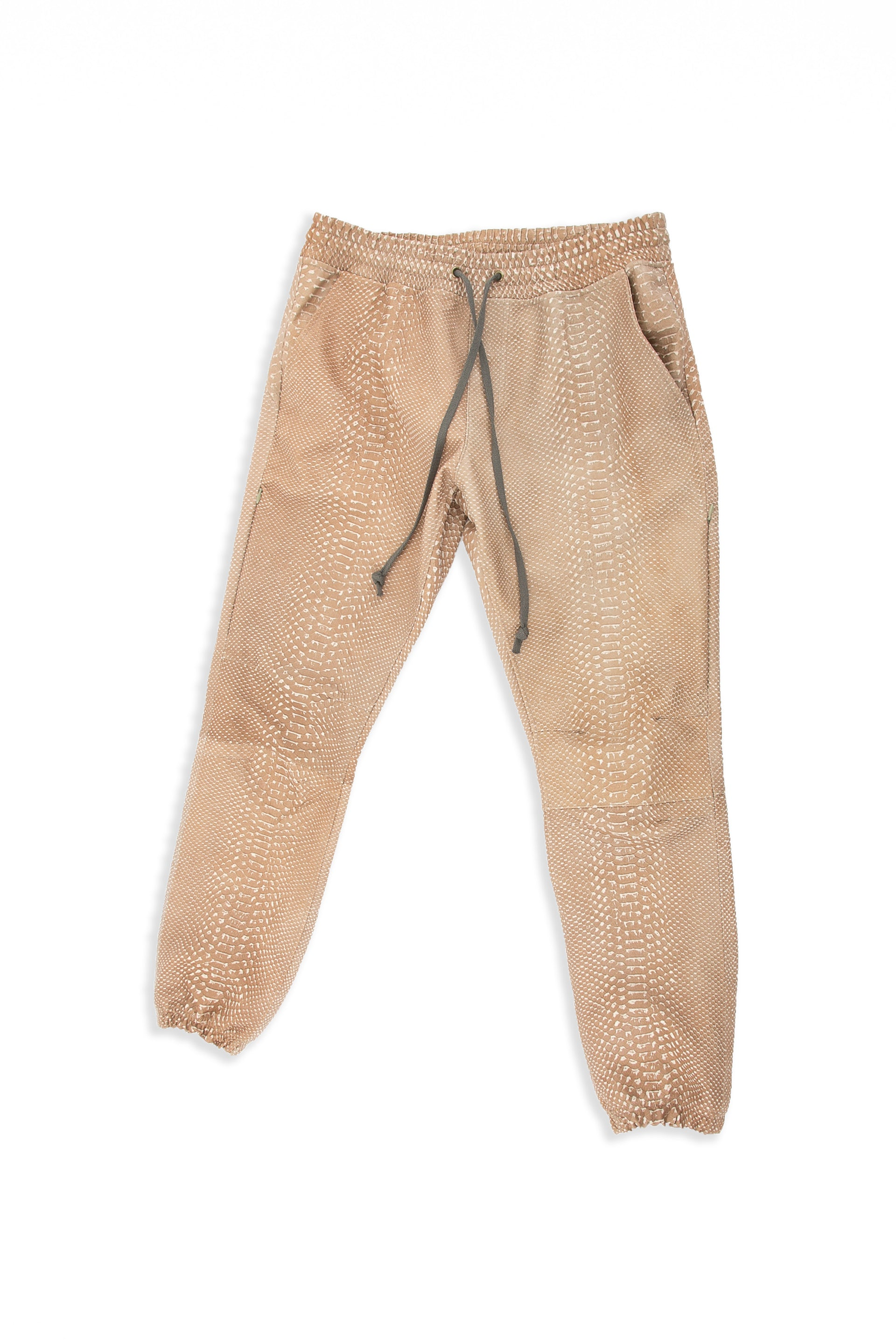 Front of Snakeskin Jogger in Tan