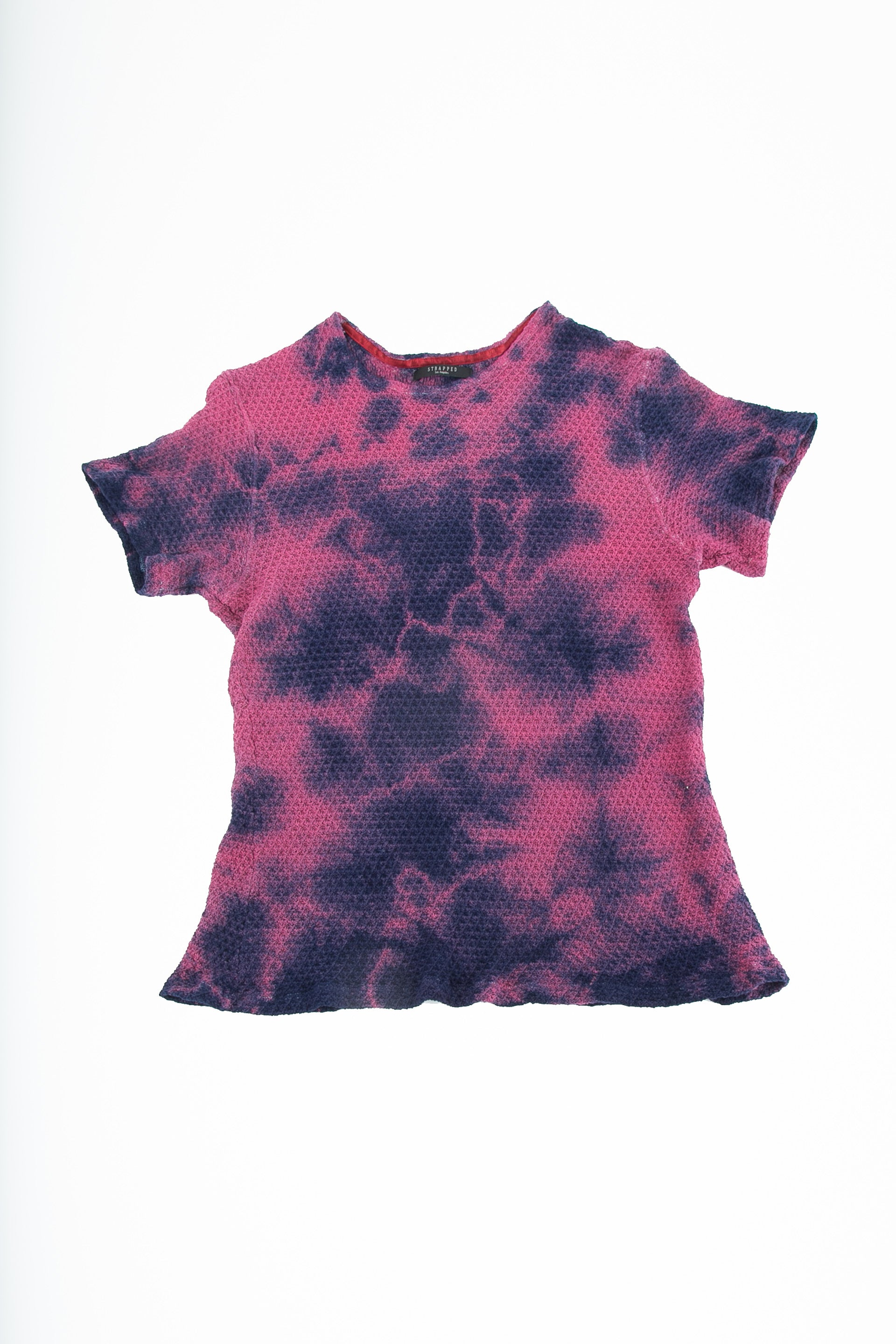 Front of Pointelle Tee in Washed Violet