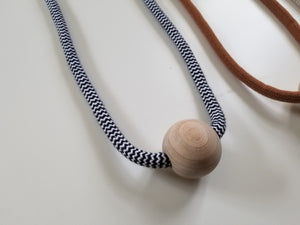 Cotton + Wood Minimalist Necklace