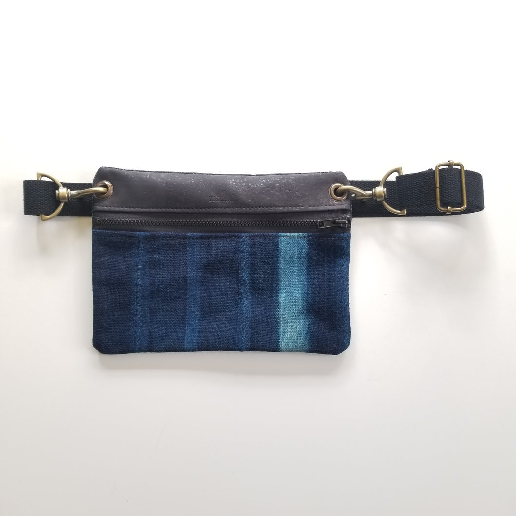 Classic Hip Bag (Indigo Mud Cloth)