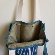 Tote (Denim Indigo Stripe)