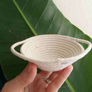 Mini Coil Rope Bowl (with handles)