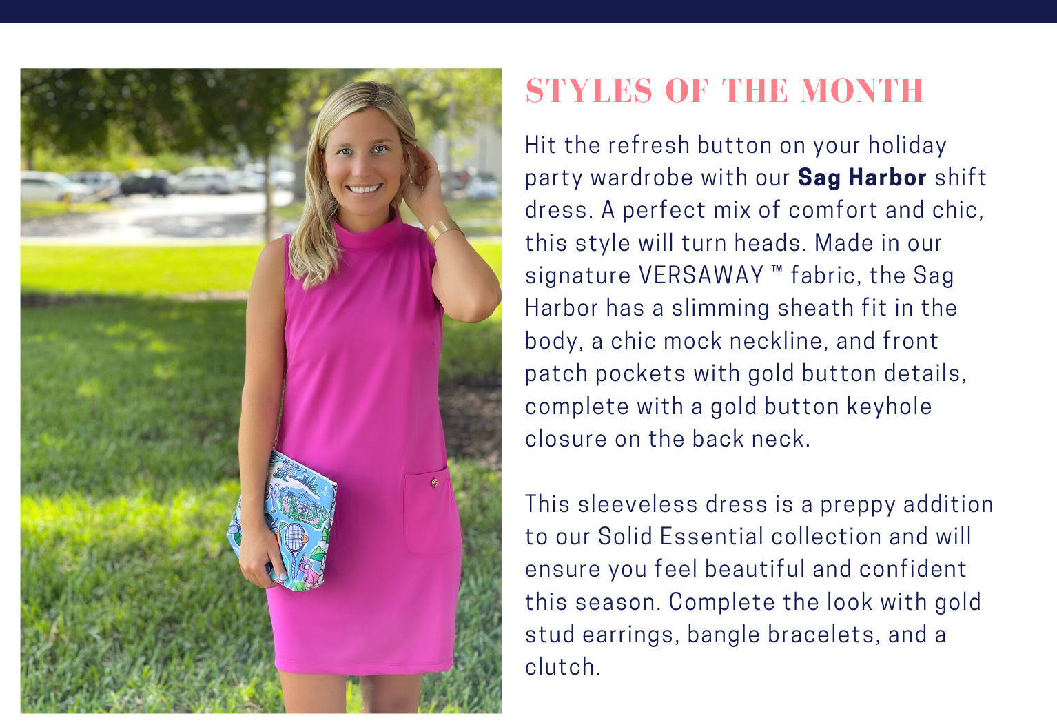 Deen's List Styles of the Month October 2021 Sag Harbor Dress