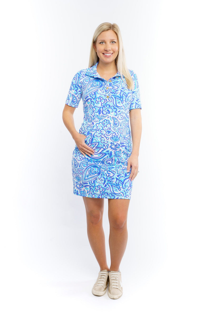 Austin Dress Floral Fun Royal DRESSES Katherine Way Collections